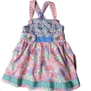 Matilda Jane Parasol knot top girls size 8